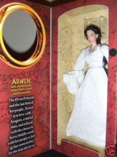 ARWEN 12 WHITE DRESS LOTR LORD RINGS MINT VERY RARE