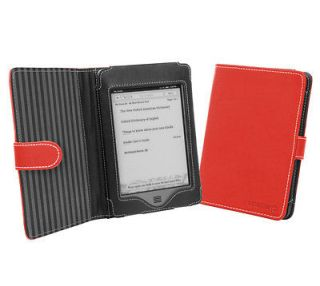 Cover Up  Kindle Touch (Wi Fi / 3G) Book Style Case   Red