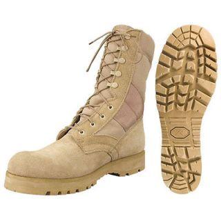 Leather Cordura Desert Tan Sierra Lug Sole Jungle Combat Boots