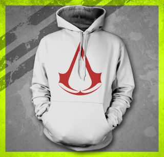 ASSASSINS CREED 3 ALTAIR ETSIO COSTUME NEW GAMER HOODED SWEAT SHIRT