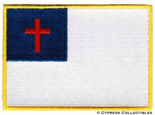 BIKER PATCH EMBROIDERED IRON ON FLAG EMBLEM embroidered CROSS