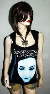 Evanescence Goth Metal Punk Rock DIY Pentagon Neckline Vest Top Shirt