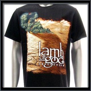 Sz L LAMB OF GOD T shirt Vtg Retro Rock Heavy Metal Death Hard Biker