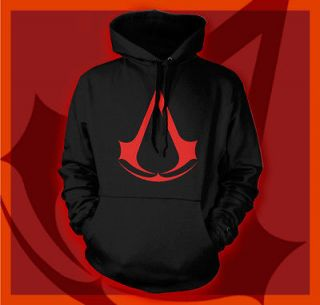 ASSASSINS CREED 3 ALTAIR ETSIO COSTUME BLACK GAMER SWEATSHIRT BLADE
