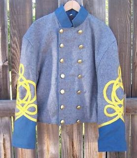 civil war confederate shell jacket with braids 48