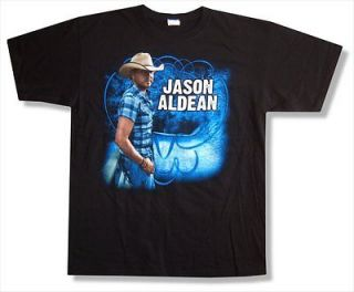 JASON ALDEAN   PLAID SHIRT WIDE OPEN TOUR 2010 T SHIRT   NEW ADULT
