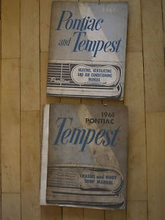 1961 Pontiac and Tempest Heating and Air Conditioning manual and Body