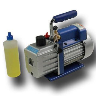 4HP Rotary Vane Vacuum Pump HVAC Air Condition Refrigerant R410a