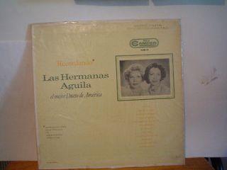 LAS HERMANAS AGUILA EL MEJOR DUETO DE AMERICA MEXICAN LP SERIE