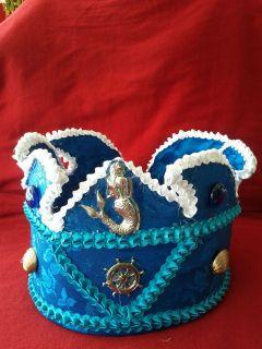 corona, crown de Yemaya forada en tela preciosa religion yoruba ifa
