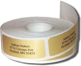600 GOLD Return Address Labels on rolls