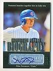 Mike Fontenot 2007 UD Exquisite Baseball Biography Autographed Auto RC