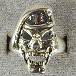 DELUXE MILTARY SPECIAL FORCES SKULL VAMPIRE SILVER BIKER RING BR124