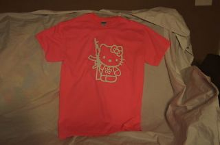 Hello Kitty AR15 AK47 T Shirt Tee Printed Brand NEW Pink Funny Guns