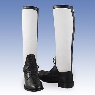 New Model WOMEN Summer Canvas leather FIELD BOOT Horse RIDING Slim