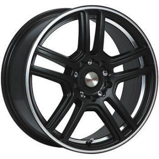 New Set of 4   18 18x8 Maas 315B Essex Black Alloy Wheels Rims