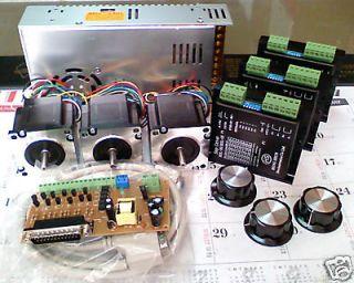 DIY Cnc PC Mach3 Control 3 axis Kit NEMA23 step motor 13kg.cm & with 1