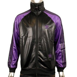 Mens Adidas Originals Chile 62 Colblo TT Black Purple Track Suit Top