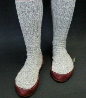 ACORN Slipper Socks Men or Women Wool Blend with Memory Foam Insole