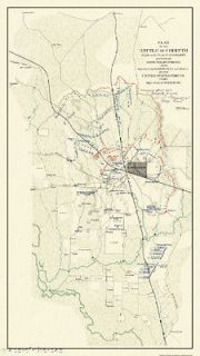 CORINTH MISSISSIPPI (MS) BATTLE CIVIL WAR MAP 1862 MOTP