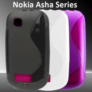 Line Grip Series Silicone Gel Case Skin Cover For Nokia Asha 200