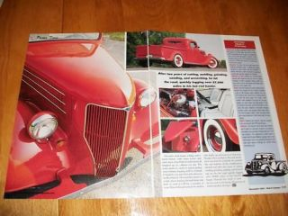 Original 1935 Ford Pickup Truck Hot Rod Article