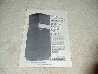 LaFayette Ad, 1976, Criterion 2005 Heil Air Speaker,1pg