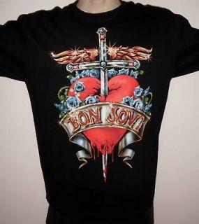 Jon Bon Jovi Red Heart Rock T Shirt Size 2XL new