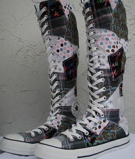 XX Hi XX Hi Knee High Patchwork Stars Shoes 6 6.5 US 36 36.6 EU