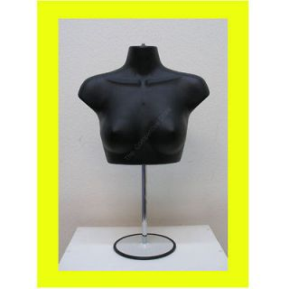 Female Upper Torso Mannequin Form W/ Metal Base   Countertop Display