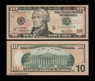 UNITED STATES USA $10 DOLLARS 2006 UNC banknote, P 525   AMERICA