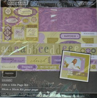 Colorbok Page Scrapbook Kit 155+ PCS Inspiration 12 x 12