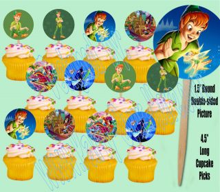 Pan Tinkerbell Captain Hook Neverland Cupcake Picks Cake Toppers  12