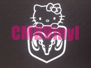 Hello Kitty Dodge Ram Head Logo Vinyl Decal/Sticker Car Truck Laptop