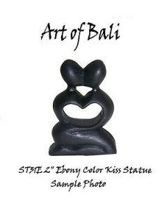 Zen Garden 2 Ebony Heart Kiss Statue Bali Carving Bali Art ST31E