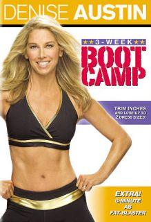 Denise Austin 3 Week Boot Camp DVD, 2009, Canadian