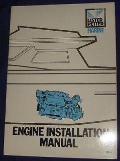 LA033 Lister Petter Marine Diesel Engine Installation Manual