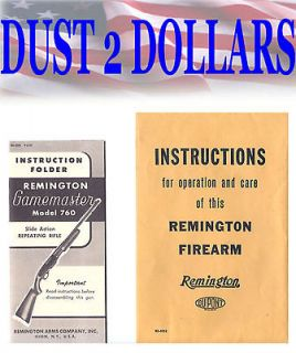 Original Remington Instruction Operation Manual Gamemaster Model 760
