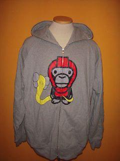 BABY MILO Hoodie Sweatshirt top Jacket 5XL red pink Bathing Ape
