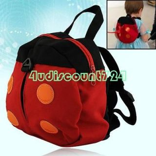 NEW RED SAFETY HARNESS KID KEEPER TODDLER BABY LADYBUG LADYBIRD BAG