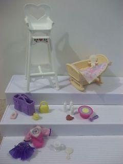 Barbie Doll BABY KRISSY NURSERY Lot FURNITURE & ACCESSORIES