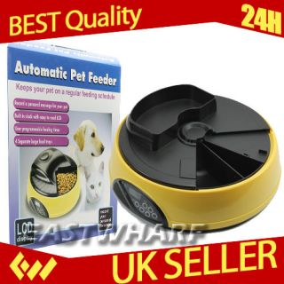 New 4/6 Meal Digital LCD Automatic Pet Feeder for Cat dog Feeder Bowls