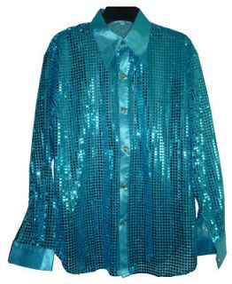 mens sequin shirt in Clothing,