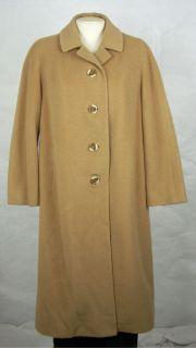 Rare J.J. ODONNELS Womens Ladies BABY CAMELS HAIR Long Coat size S ?