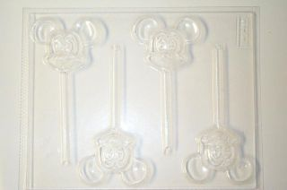 MICKEY MOUSE HEAD LOLLIPOP CANDY MOLD MOLDS SOAP FAVORS