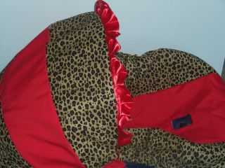 Cheetah Leopard Red Baby Infant Car Seat Cover Graco baby or evenflo
