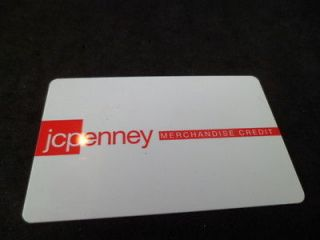 Penney Gift Card with confirmed balance of $300, christmas theme card