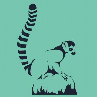 LEMUR Vinyl wall sticker decal cute zoo animal car graphic mural ra9