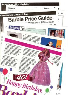 /Pics/​Price Guide/Info on Mattels Barbie Dolls~Barbie Turns 40