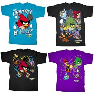 New Boy Angry Birds Space T Shirt Tee Top Size S 8 M 10/12 L 14/16